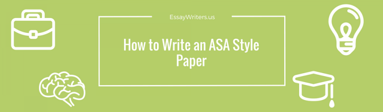 asa style paper Asa format  the american sociological association style is intended for use by authors preparing manuscripts for publication in asa journals this handout is intended for students who are instructed to use asa style when writing research papers.